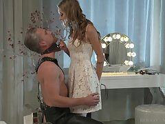 Lecherous mistress Tiffany Tatum punishes her submissive dude on a leading lady