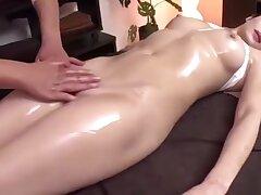 Hot Japanese Girl Gets Fingered during Message