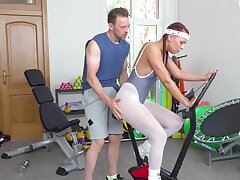 Sporty tolerant transparent needs the firm dick of her trainer in hardcore