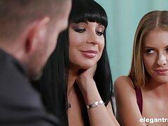 Spicy hot mistress Valentina Ricci having a breathtaking FFM threesome