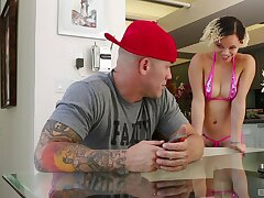 Ashley Lovebug gets her cunt defeated clean and rides her defy