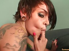Imbecilic Shafting With Tattoed Spanish Girl