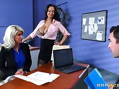 Riley Jenner is taught office wirepulling at the end of one's tether sexy Ava Addams