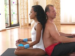 Fitness center fucking be useful to hot ebony and a lucky white bloke