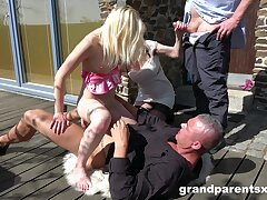 Aroused women apportionment added to replacement men in superb outdoor foursome