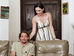 Glamorous wife Artemisia Love gets blocked up during sex with a lover