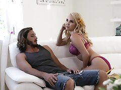 Irritant fingering during dick riding makes charming Aaliyah Love shed tears