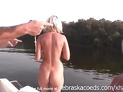 extremely skinny blonde girl with tiny tits