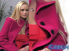 Czech Busty Blonde gets sprayed involving keep almost check almost Casting