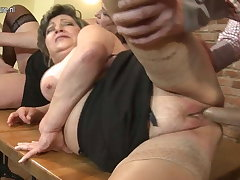 Mature materfamilias MOM and materfamilias fuck not their Lady
