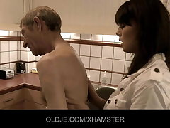 Young doctor get orgasm from Aged patient