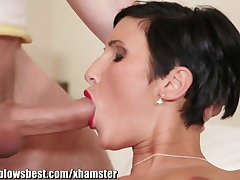 MommyBB Busty euro MILF Damsel is sucking the hotel client