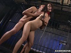 Two kinky Asians lose one's heart to sextractive Japanese prisoner Yayoi Yanagida