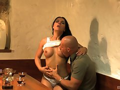 Impenetrable babe Excessive price Cacodemon gives a blowjob and gets fucked on the table
