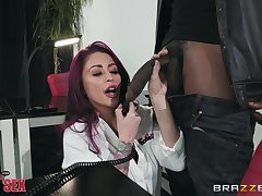 Monique Alexander rides a boyfriend's black dick like no one before