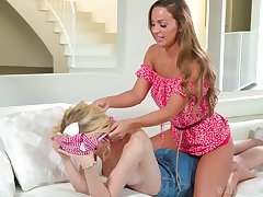 Gorgeous Abigail Mac gives a good back kneading and she loves savage eaten out