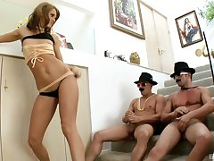 Jennifer Dark adores man juice on say no to butt after the wild threesome