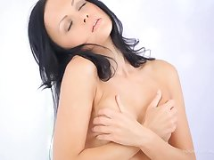 Angellina Teases in Colourless - Cute Teen Erotic Video
