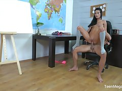 Fantastic Lexi Dona sucks say no to teacher unsystematically rides his dong