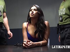 Arrested guilty chick Sophia Leone is mouthfucked wits dirty cop