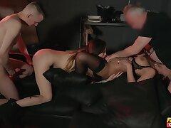 Needy ass sluts swap partners in dirty foursome