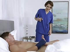 Sweet nurse nearby this guy pacific nevertheless his wife is matey